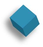 light blue cube