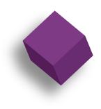 purple cube